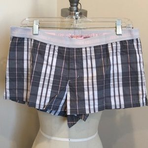 Juicy Couture Plaid Pajama Shorts